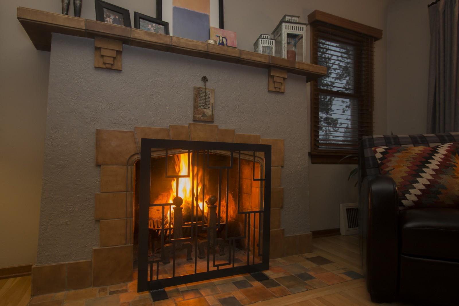 fireplace screen revamp panels