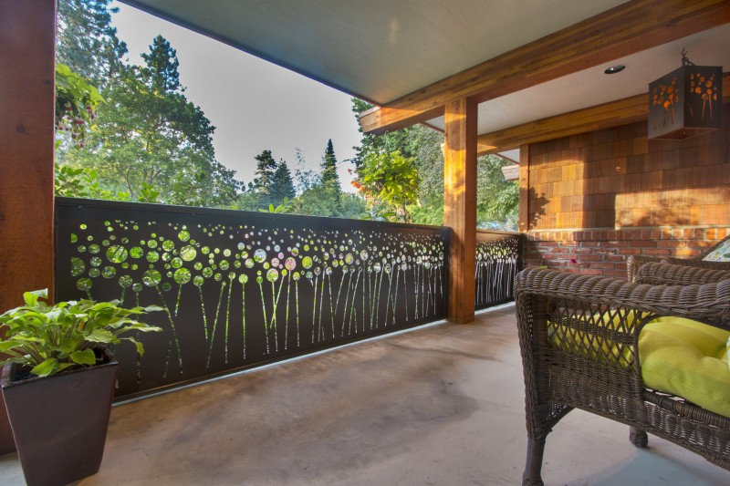 Revamp Panels Poppy Field Laser Cut Steel Metal Outdoor Railing System Porch