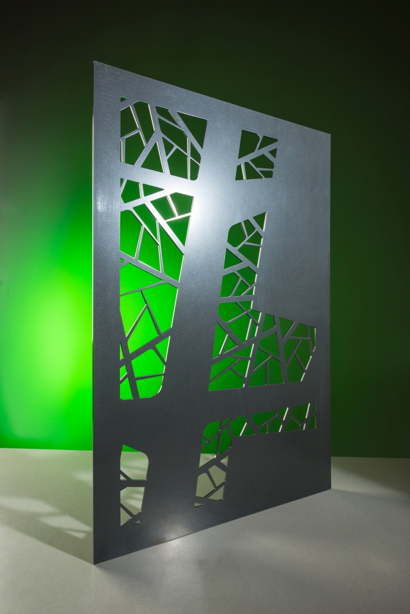 Revamp abstract leaf steel decorative metal panel product shot