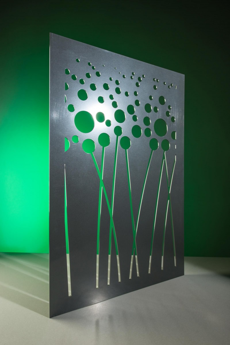 Revamp poppy field steel metal panel product shot