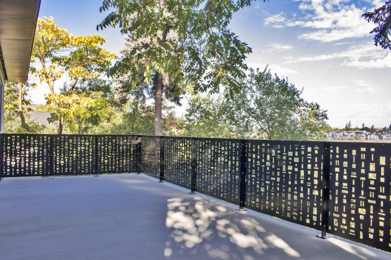 Large Concrete Deck With Laser Cut Pattern Guardrail