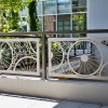 Custom Bike Spoke Pattern Welded Frame Railing System