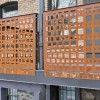 Two Corten Guardrail Sections on Balcony